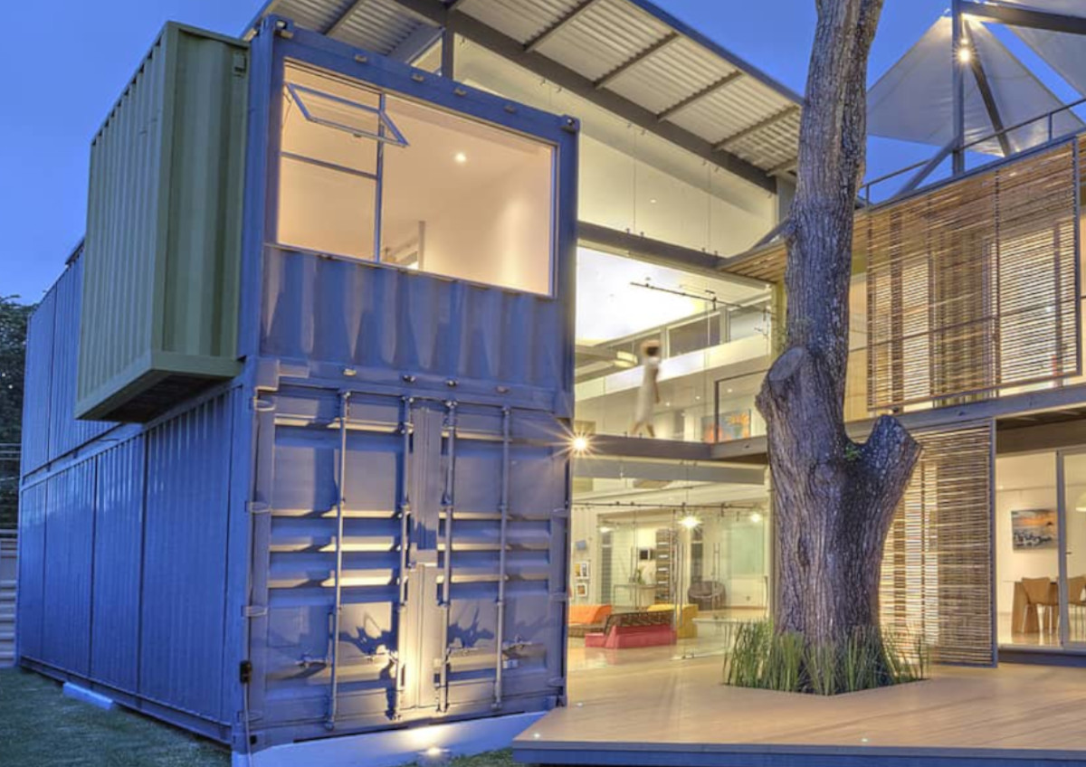 two storey office container
